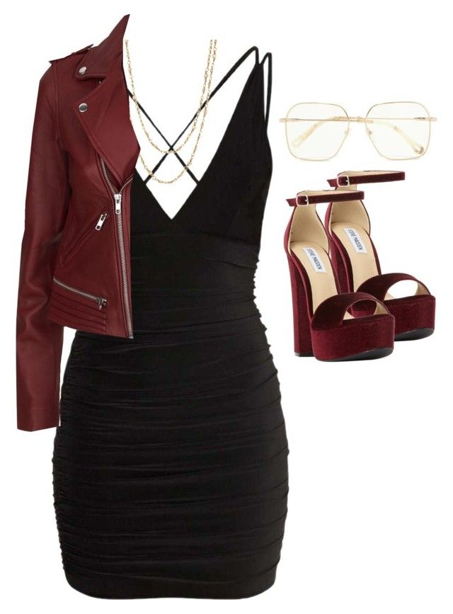 """""""Untitled #64"""" by zueemy on Polyvore featuring Samira 13, Maje, Steve Madden and Chloé"""