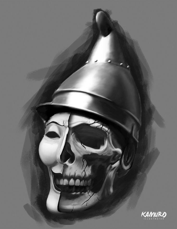 Force, death and lie, Kamuro illustrator on ArtStation at https://www.artstation.com/artwork/QJDJ3
