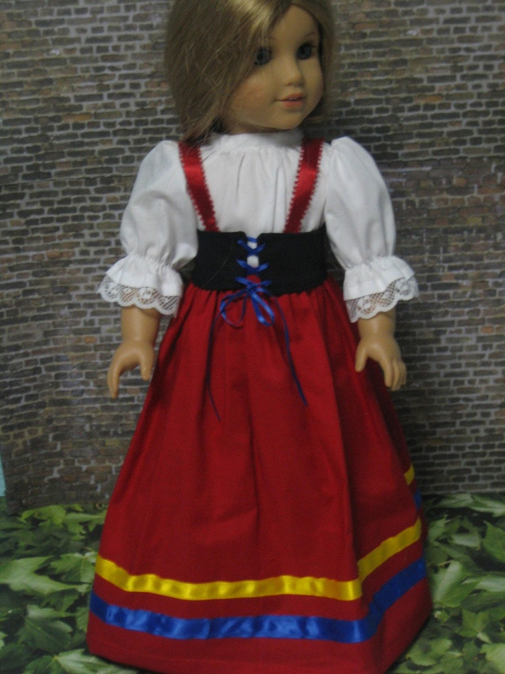 Italian National Costume For Your American Girl Doll -5202