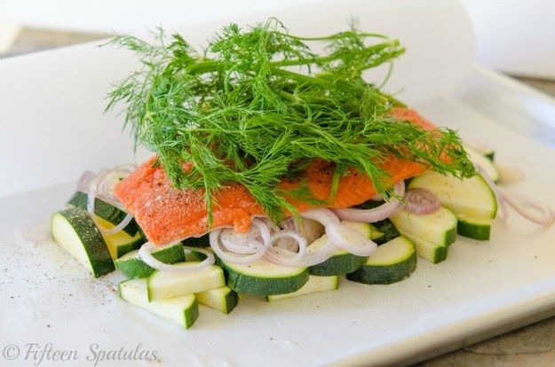 Salmon in Parchment Paper   27 5-Ingredient Dinners That Are Actually Healthy