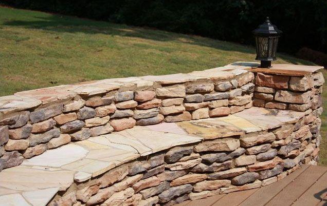 Stone Sitting Wall | Ledge Stone | Manufactured Stone | Native Custom Stone