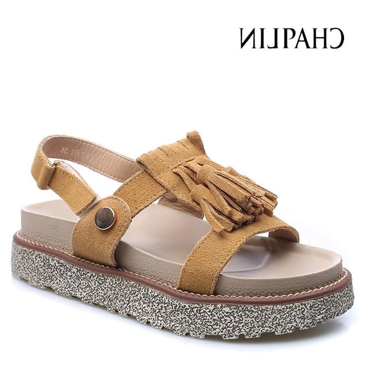 31.55$  Buy here - https://alitems.com/g/1e8d114494b01f4c715516525dc3e8/?i=5&ulp=https%3A%2F%2Fwww.aliexpress.com%2Fitem%2FNew-Arrival-2016-Fashion-Nubuck-Cow-Leather-Sandals-For-Women-Flip-flops-Lday-s-Summer-Trifle%2F32699440876.html - New Arrival 2016 Fashion Nubuck Cow Leather Sandals For Women Flip-flops Lday's Summer Trifle Shoes Cute Tassel Women Shoes K919
