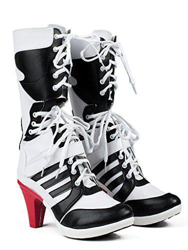 Suicide Squad Harley Quinn Stiefel Schuhe |Kostüm-Idee zu Karneval, Halloween & Fasching