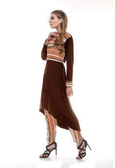 Wanita > Baju Muslim > Dress Muslim > Gamis > Evanthe Stripe Film EB > Le Najwa