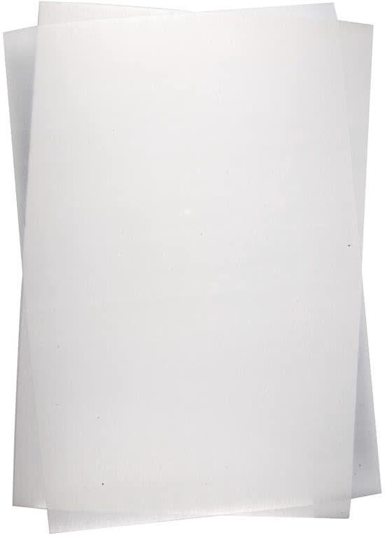 Krimpfolie vellen, vel 20x30 cm, mat transparant, 10 vellen
