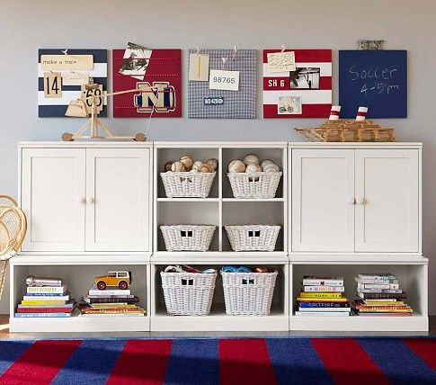 Cameron Creativity Lower Storage System | Pottery Barn Kids--I like the Stanton Wall system shown in this pic