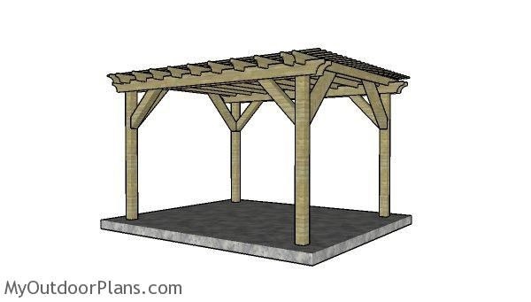 10x12 Pergola Plans Myoutdoorplans Free Woodworking Plans And Projects Diy Shed Wooden Playhouse Pergola Bbq Pergola Plans Wooden Playhouse Pergola