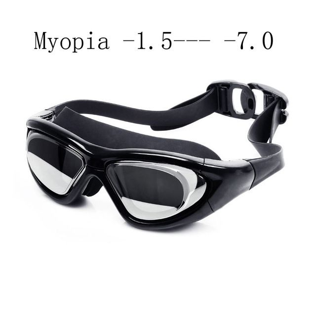 Sale $6.44, Buy Super big Swimming glasses myopia Adult silicon Swimming goggles optical anti fog adjustable water goggles swim eyewear