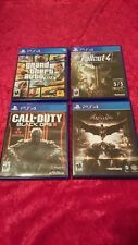 Pre-owned set of 4 bundle ps4 games , Fallout4, GTA, Cod black ops 3, Batman #Ps4 #Games #Fallout #Batman