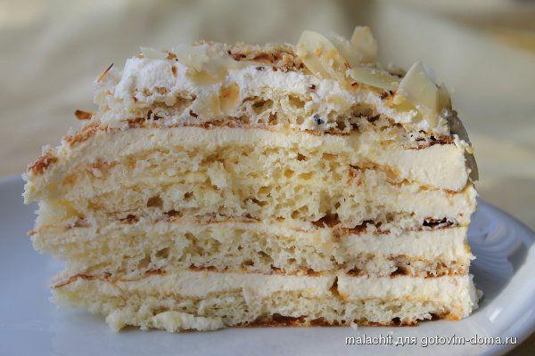 """Торт """" Молочная девочка """" с творожно сливочным кремом и абрикосово -маракуевым вкусом."""