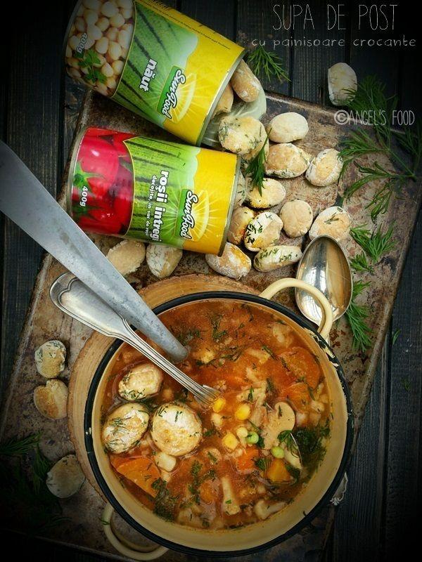 Supa de post cu legume Sun Food si painisoare crocante
