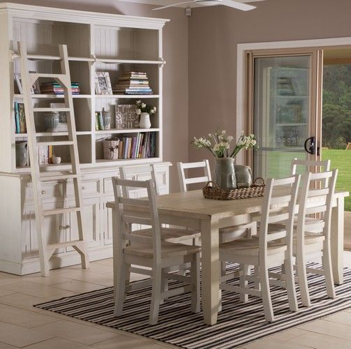 Florence 1800 Dining Package (Table: 1800W x 1050D x 775H mm; Chairs: 470W x 540D x 1015H mm) RRP $1,569