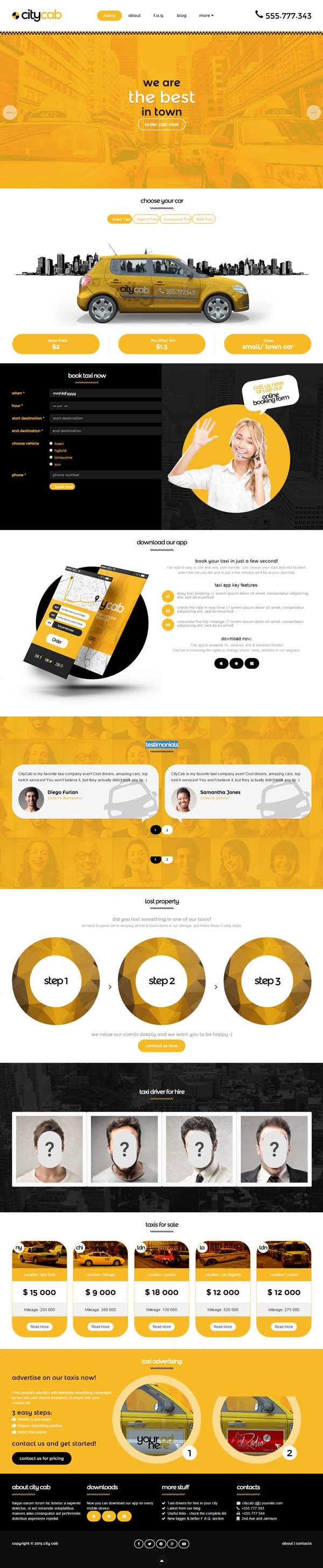 CityCab - Taxi Company Responsive HTML Template #html5templates #psdtemplates #responsivetemplates #webtemplates