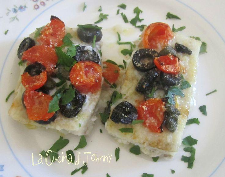 Merluzzo al forno con pomodorini
