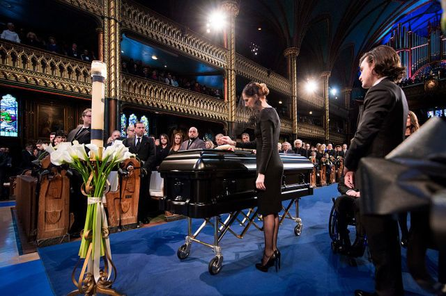 Watch The Heartwrenching Speech Celion Dion's Son Gave at His Dad's Funeral