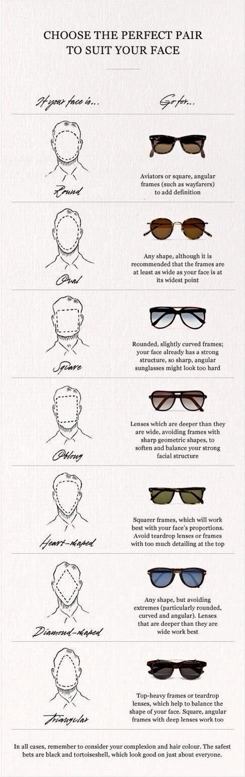 How to choose the perfect pair for your face #sunglasses