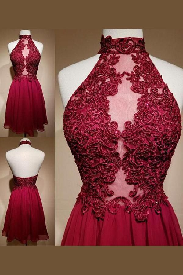 0ededc769c70 Hot Sale Luscious Homecoming Dresses Lace, Short Prom Dresses, Burgundy  Prom Dresses in 2019 | ☘Short Homecoming Dresses☘ | Burgundy homecoming  dresses, ...