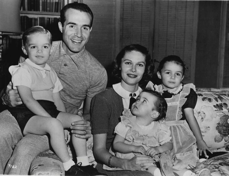 Ricardo Montalban with wife Georgiana and children