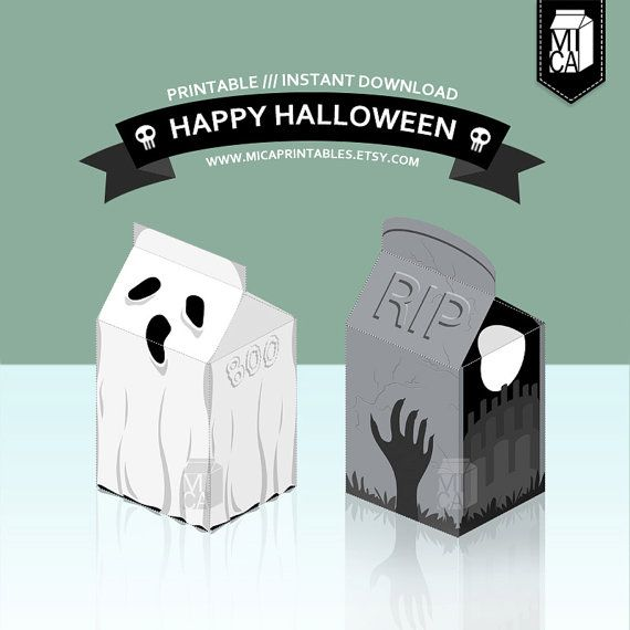 #Halloween #Printables #Party #Favor #Decoration #RIP #Ghost by MicaPrintables
