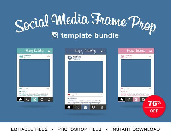 1000 images about instagram frame on pinterest frame template instagram frame and photo props. Black Bedroom Furniture Sets. Home Design Ideas