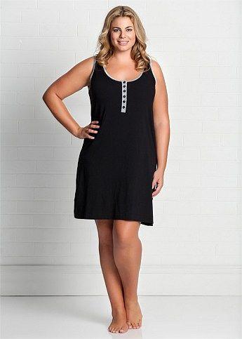 Fashion Plus Size - Large Size Womens Clothes, Tops & Dresses | Fashionable Plus Size Clothes - GIDGET NIGHTIE - Virtu