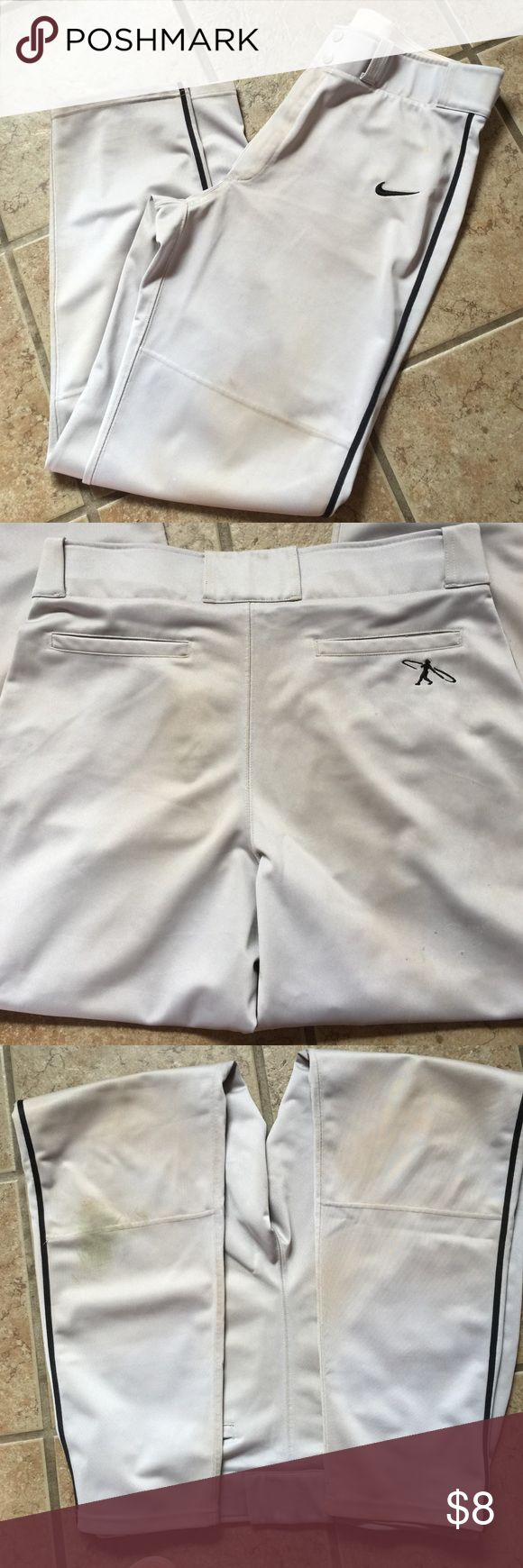MENS NIKE BASEBALL PANTS Men's baseball/softball pants.  Signs of wear and stains from play.  Non-smoking home Nike Pants Sweatpants & Joggers