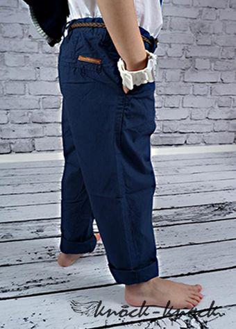 """spodnie chłopięce, klasyczny prosty krój nogawki. Od najmodniejszych chinosów po spodnie  """"na kantkę"""" jak proponuje w tym sezonie Prada kolor: granatowy. Do kupienia na: mail: knocknock.fashion@gmail.com fb: https://www.facebook.com/pages/knock-knock-fashion/230430617163127?ref=hl instagram: http://instagram.com/knock_knockfashion#"""
