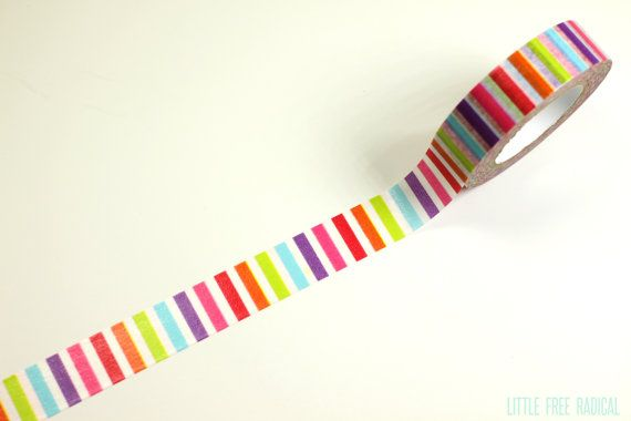 Hey, I found this really awesome Etsy listing at https://www.etsy.com/listing/181606648/rainbow-stripe-washi-tape