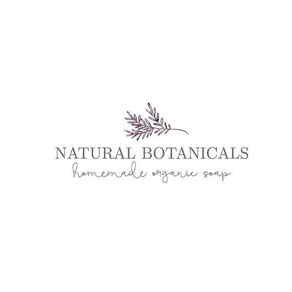 Premade Logo Branding Floral Watercolor Laurel Leaf Elegant Beautiful High Resolution Script Calligraphy Simple Botanical Nature Minimal