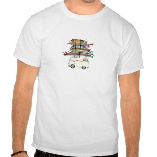 kombi surf tshirt
