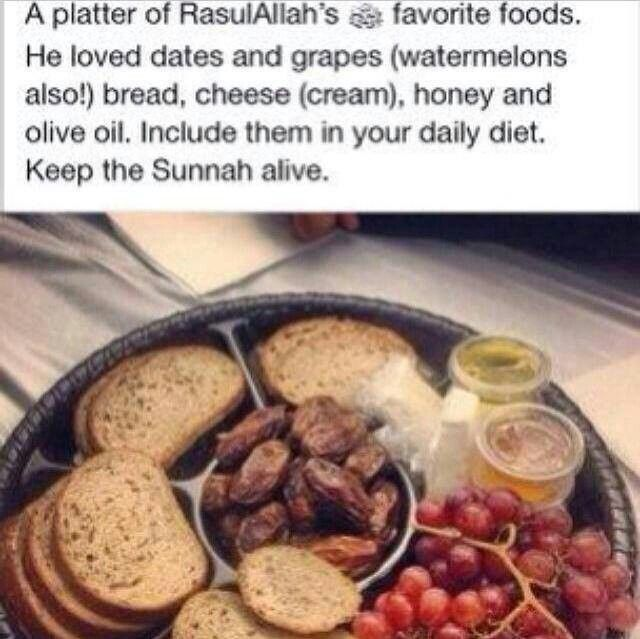 This made me smile. These are some of my favorite foods too :)