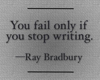 ray bradbury on writing advice