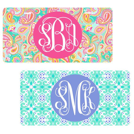 Monogram License Plate, Personalized License Plate, Custom Car Tag, Monogram Front Plate, Personalized Car Tag, Monogram Car Tag 20 Colors