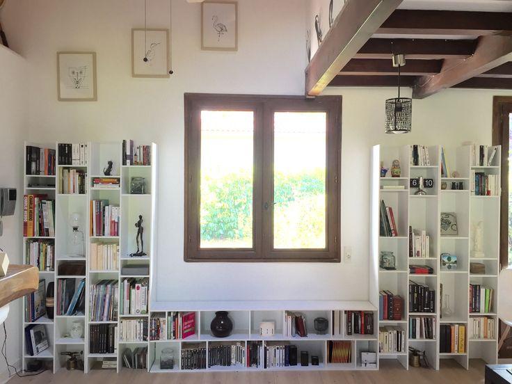 ensemble de 5 biblioth ques osaka maisons du monde. Black Bedroom Furniture Sets. Home Design Ideas