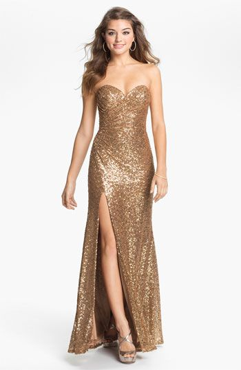Omg...I can't have it I can't have it Ican'thaveitIcan'thaveit......La Femme Strapless Sequin Gown   Nordstrom