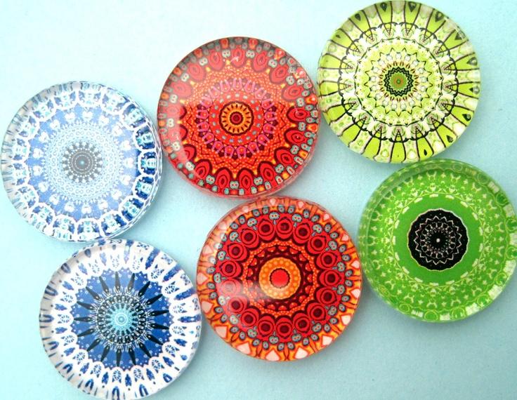 Mandala magnets- gorgeous.