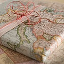 Vintage Map Wrapping Paper - wedding stationery