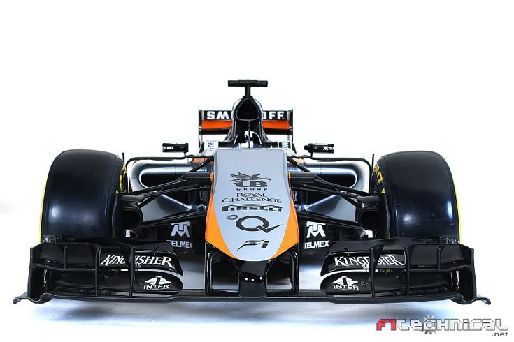 Sahara Force India VJM08 - Front view - Photo gallery - F1technical.net