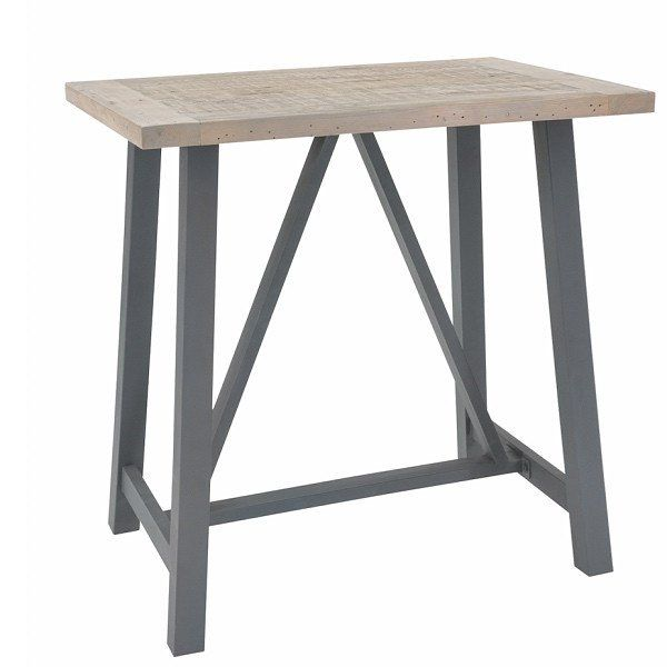 Industrial Lowry Reclaimed Wood Bar Table   Modish Living Reclaimed Wood  Furniture