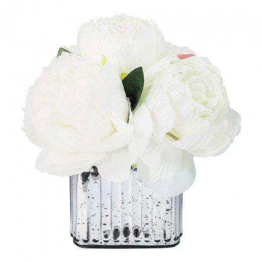 De Fleurs Silver Arrangement L21XW21XH21cm