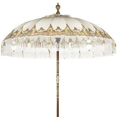 The Urban Garden parasole in gold canvas