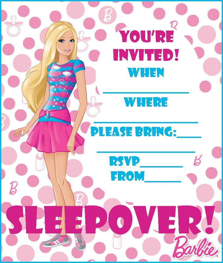 FREE BARBIE COLORING PAGES AND PRINTABLE PARTY INVITATIONS