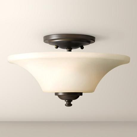 "Barrington 13"" Bronze Semi-Flushmount Ceiling Fixture"