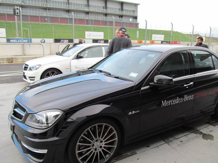 C 63 AMG on the track at Hampton Downs, Auckland.