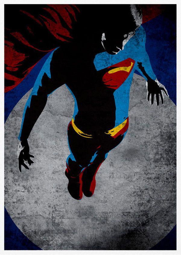 super heros posters vintage batman spiderman iron man