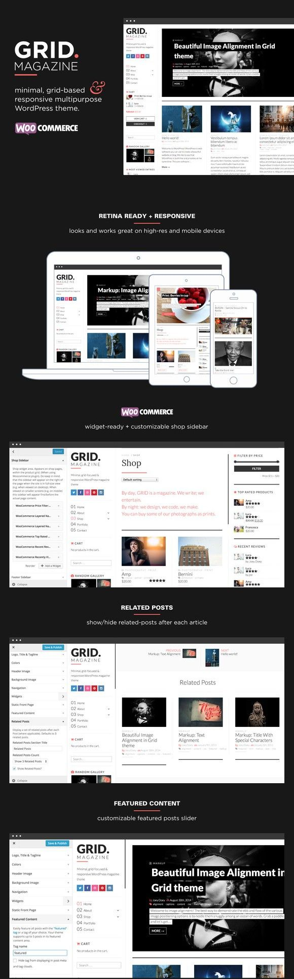 GRID - WordPress magazine & shop. WordPress Magazine Themes. $49.00
