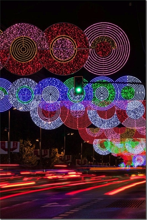 Christmas Holiday Led  Lights Decorate Madrid's City Streets