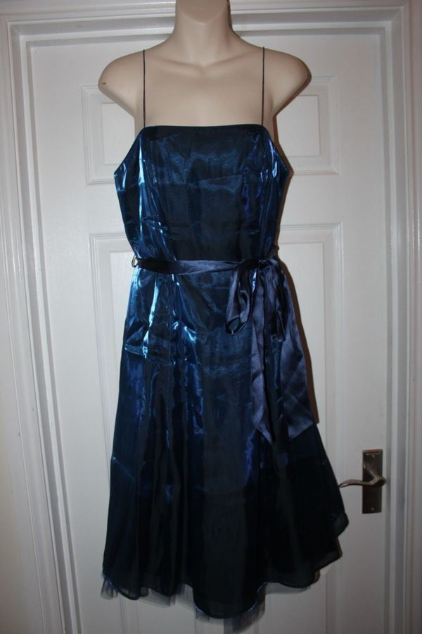 Ladies Blue Debut Dress Size 12 Shimmer Prom Bridesmaid Christmas