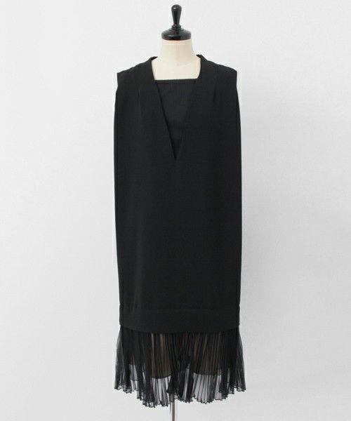 URBAN RESEARCH WOMENS(アーバンリサーチウィメンズ)のUR COUTURE MAISON 裾プリーツ サック ドレス(ワンピース)|ブラック