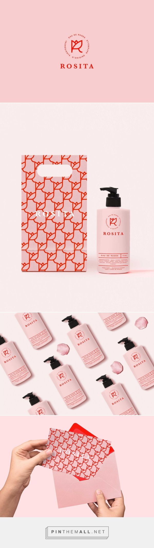 Rosita is a fictitious brand of rose water. Designed by JOAM #packaging